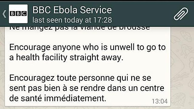 BBC WhatsApp Ebola News Service - Online Journalism Awards